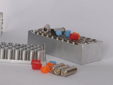 EasyLaoder Loading Block Shown With 45 Cal. Shells
